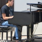 Seiji Yamahsita expolores the piano during his solo.Photo Credit: Harley Christensen