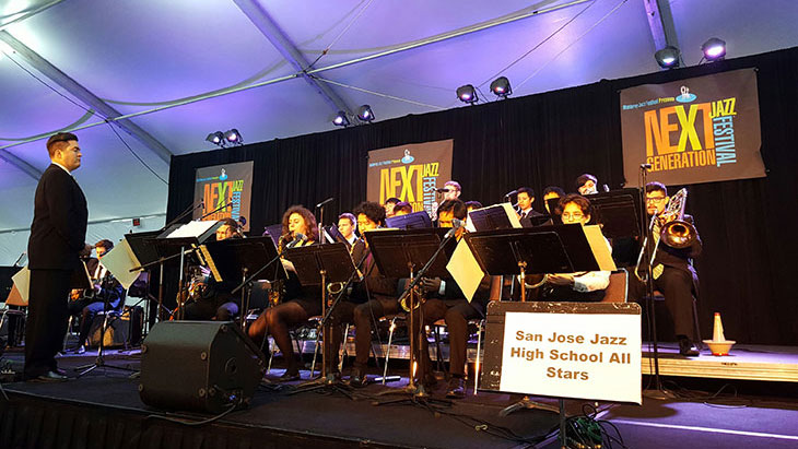 sjz high school all stars christmas in the park san jose jazz