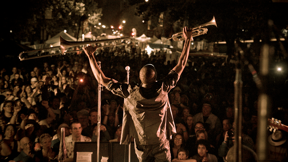 Trombone Shorty performs at the 2011 Summer Fest Main Stage