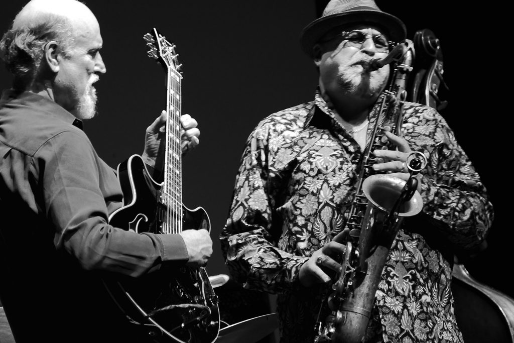 John Scofield and Joe Lovano; photo by MK Wagner