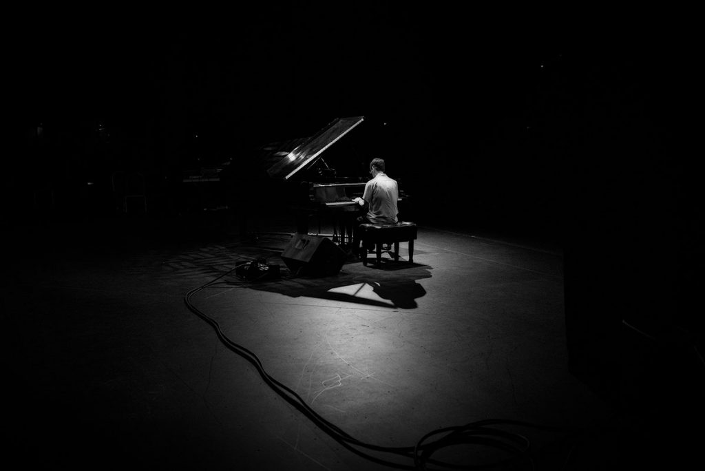 Headliner Fred Hersch performed a solo piano set in the Hammer Theatre. Photo by Robert Birnbach