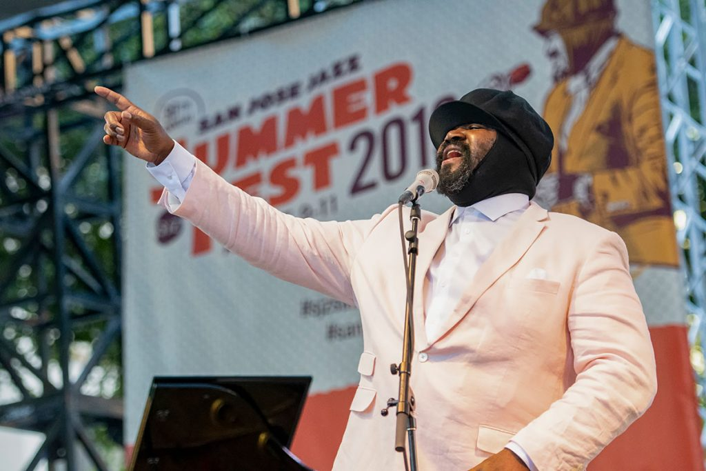 Gregory-Porter gave an electric performance during his Main Stage set on Saturday. Photo by Ken Hunt
