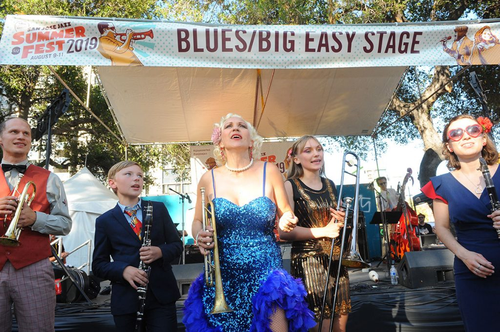The virtuosity of Gunhild Carling and her Family Band, visiting from Sweden, stunned the audience at the packed Blues/Big Easy Stage on Saturday.