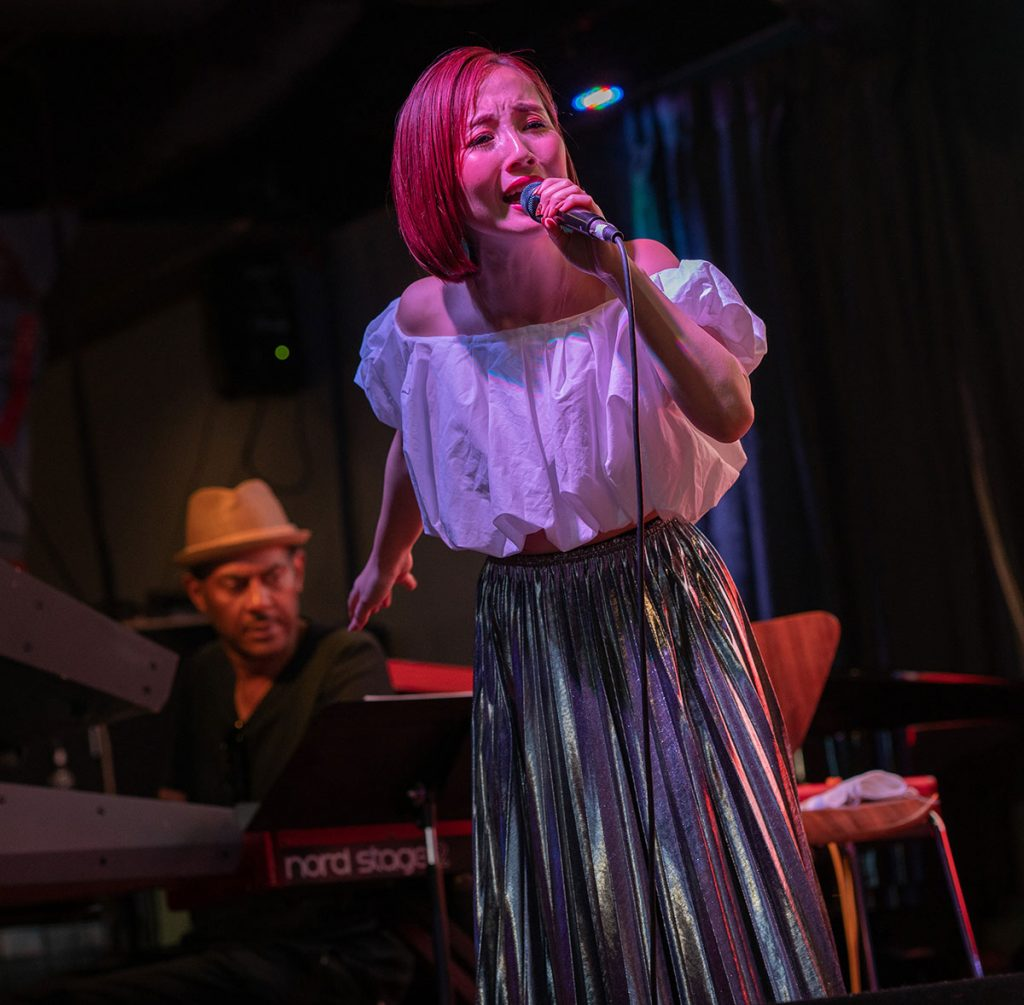 Nao Yoshioka's powerful vocals rocked the Inca Azteca Stage. Photo by Mark Anenberg