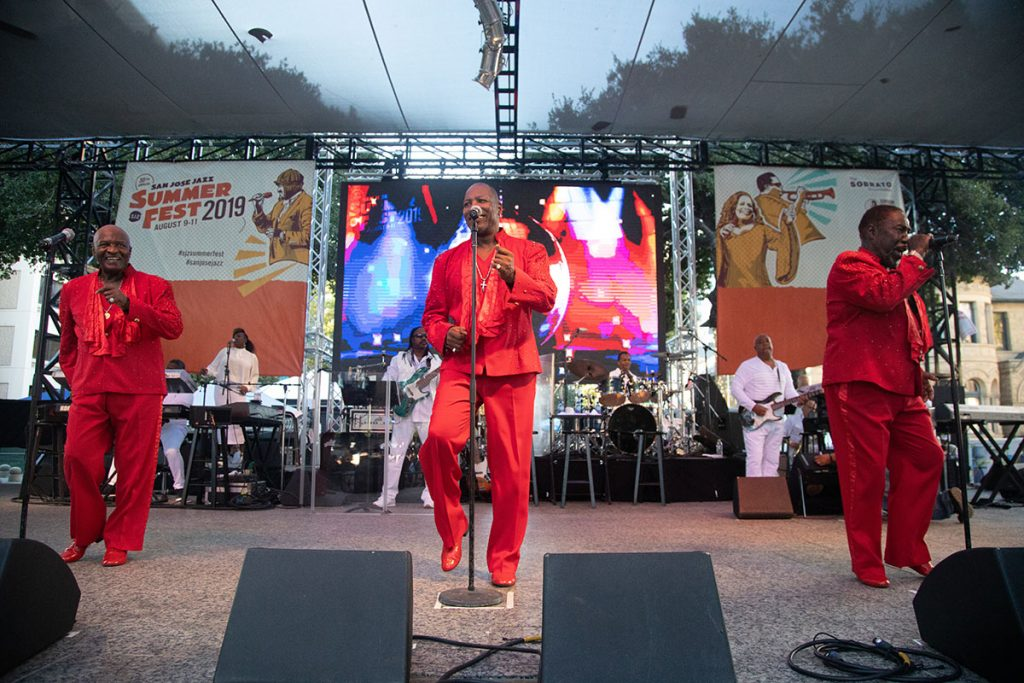The O'Jays closed out the Main Stage on Sunday. Photo by Robert Birnbach