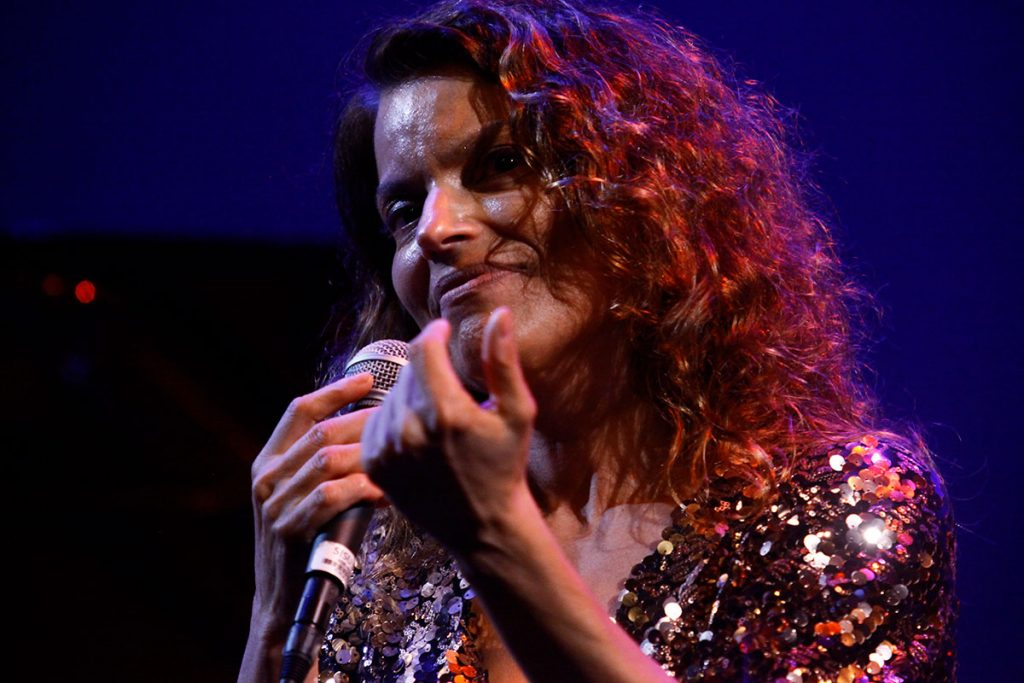 Vocalist Roberta Gambarini gave a powerful performance on the Hammer Theatre Stage. Photo by Tim Charles