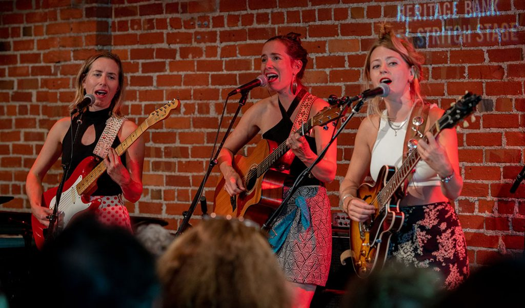 Americana group the T Sisters captivated listeners at the Cafe Strich Stage. Photo by Mark Anenberg